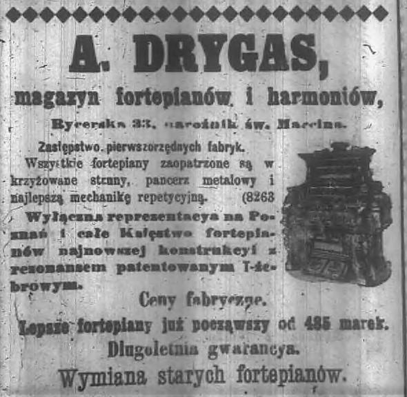 Fot. 5. Reklama z Dziennika Poznańskiego 1900 r.