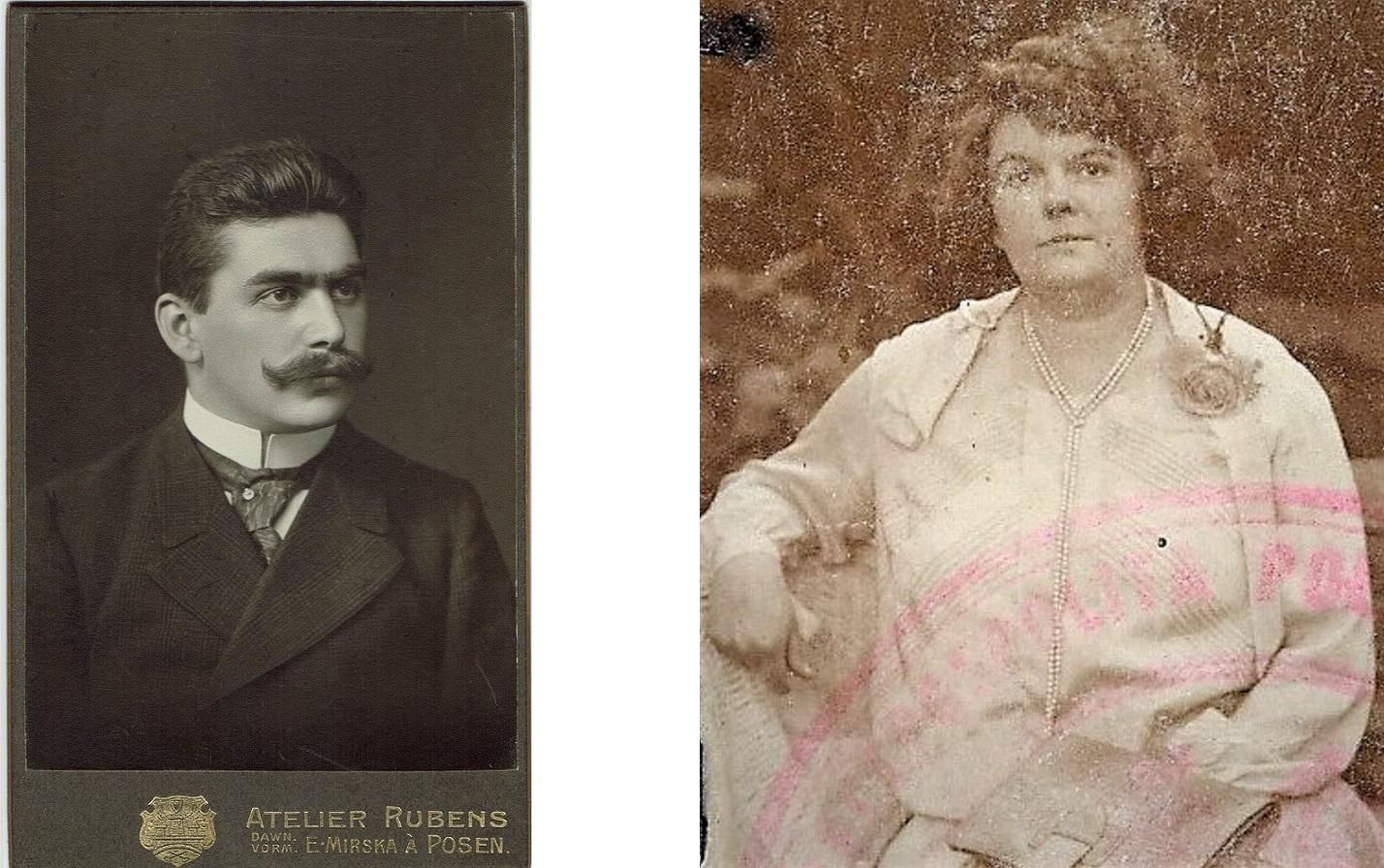 Kazimierz Drygas (prywatne archiwum rodzinne Tomasza Ciesielczyka) i Marta Drygas (prywatne archiwum rodzinne Macieja Drygasa)