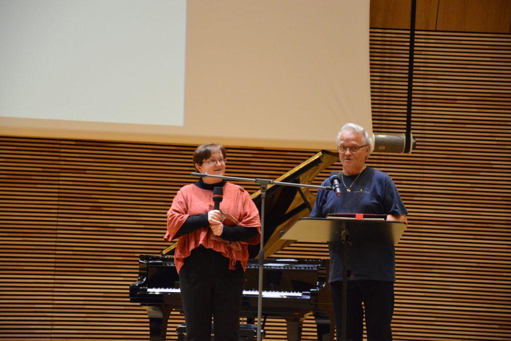 Lutz Reibeholz przyjechał specjalnie na spotkanie stroicieli z Berlina. Na zdjęciu z żoną Alą Lutz.